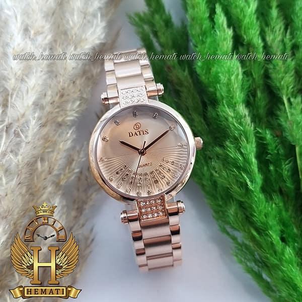 ساعت زنانه داتیس مدل D8465L رزگلد شیشه نسکافه ای