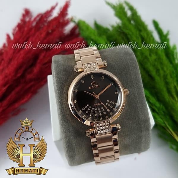 خرید اینترنتی ساعت زنانه داتیس مدل D8465L رزگلد شیشه نسکافه ای