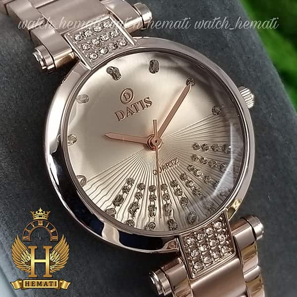 ساعت مچی زنانه داتیس اورجینال مدل D8465L رزگلد شیشه نسکافه ای