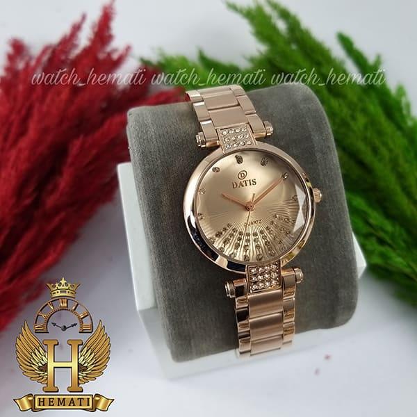 خرید ساعت مچی زنانه داتیس مدل D8465L رزگلد شیشه نسکافه ای