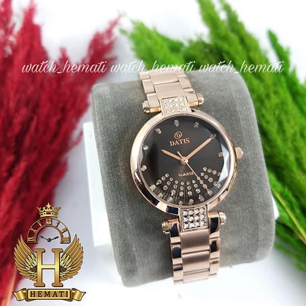 خرید اینترنتی ساعت مچی زنانه داتیس مدل D8465L رزگلد شیشه نسکافه ای
