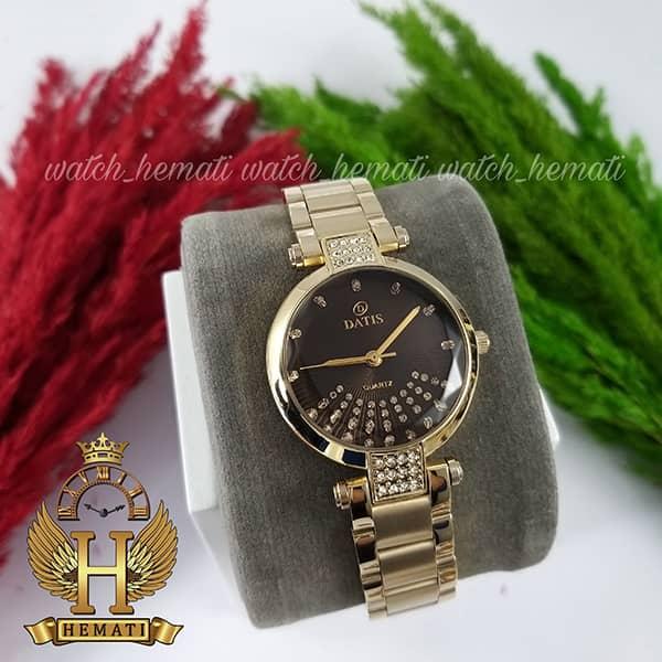 قیمت ساعت زنانه داتیس مدل D8318L طلایی شیشه نسکافه ای