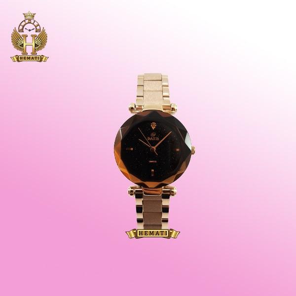 خرید ساعت زنانه داتیس مدل D8435EL بند شنی صفحه دودی مشکی