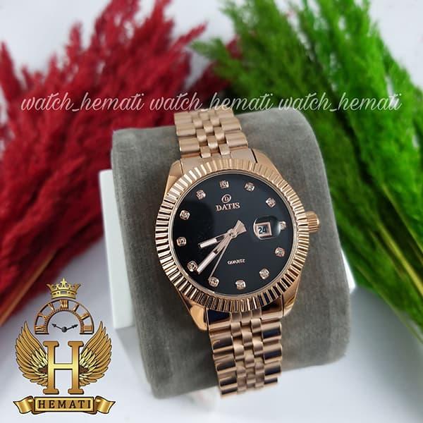 قیمت ساعت زنانه داتیس مدل D8475L رزگلد صفحه مشکی اورجینال