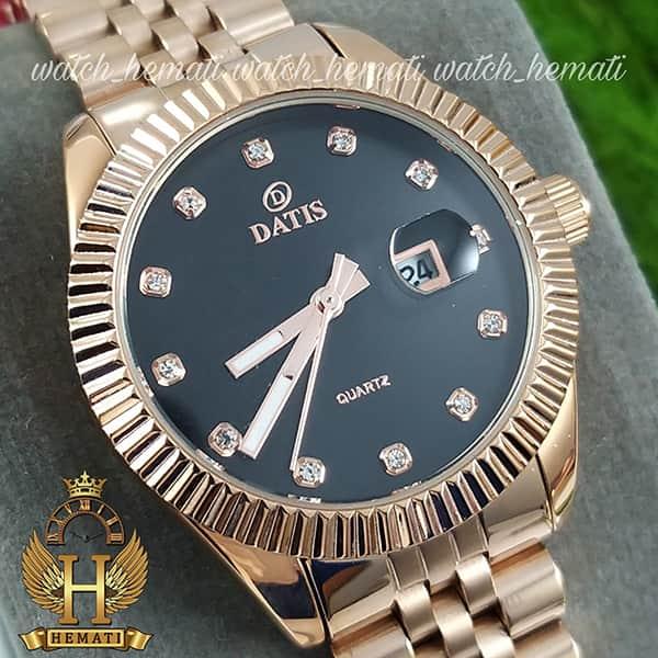 خرید آنلاین ساعت زنانه داتیس مدل D8475L رزگلد صفحه مشکی اورجینال