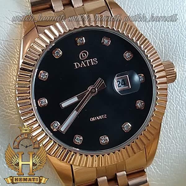 خرید ساعت مچی زنانه داتیس اورجینال مدل D8475L رزگلد صفحه مشکی اورجینال