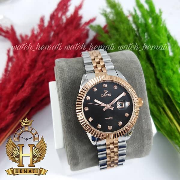 خرید اینترنتی ساعت زنانه داتیس مدل D8475L نقره ای-رزگلد صفحه مشکی اورجینال