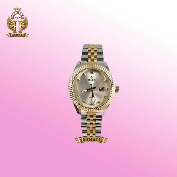 ساعت زنانه داتیس Datis D8475L نقره ای-رزگلد صفحه ساده اورجینال