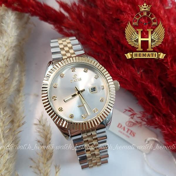 خرید ساعت زنانه داتیس Datis D8475L نقره ای-طلایی صفحه ساده اورجینال