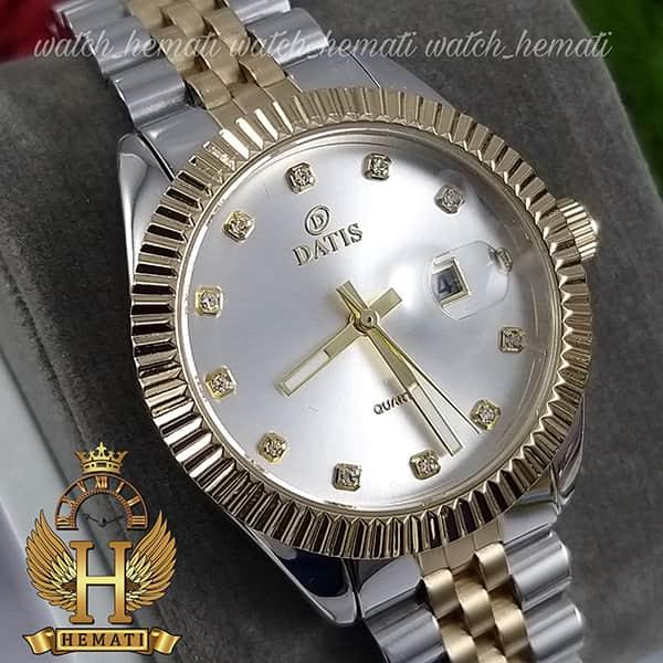 قیمت ساعت زنانه داتیس Datis D8475L نقره ای-طلایی صفحه ساده اورجینال