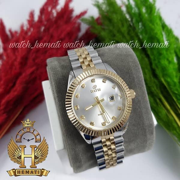 خرید ساعت مچی زنانه داتیس Datis D8475L نقره ای-طلایی صفحه ساده اورجینال
