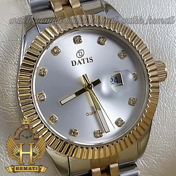خرید انلاین ساعت زنانه داتیس Datis D8475L نقره ای-طلایی صفحه ساده اورجینال