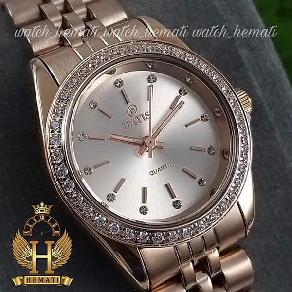ساعت زنانه داتیس اورجینال Datis D8476L رزگلد صفحه نقره ای