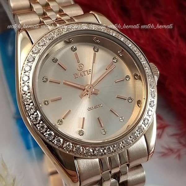 قیمت ساعت زنانه داتیس اورجینال Datis D8476L رزگلد صفحه نقره ای
