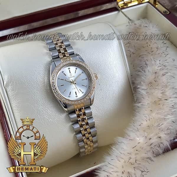 خرید ساعت مچی زنانه داتیس اورجینال Datis D8476L نقره ای طلایی صفحه نقره ای