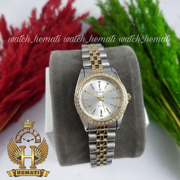 خرید اینترنتی ساعت زنانه داتیس اورجینال Datis D8476L نقره ای طلایی صفحه نقره ای