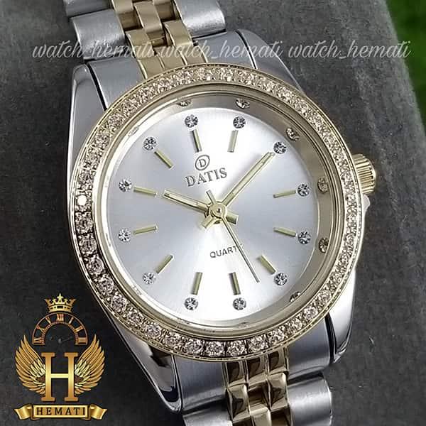 خرید انلاین ساعت زنانه داتیس اورجینال Datis D8476L نقره ای طلایی صفحه نقره ای