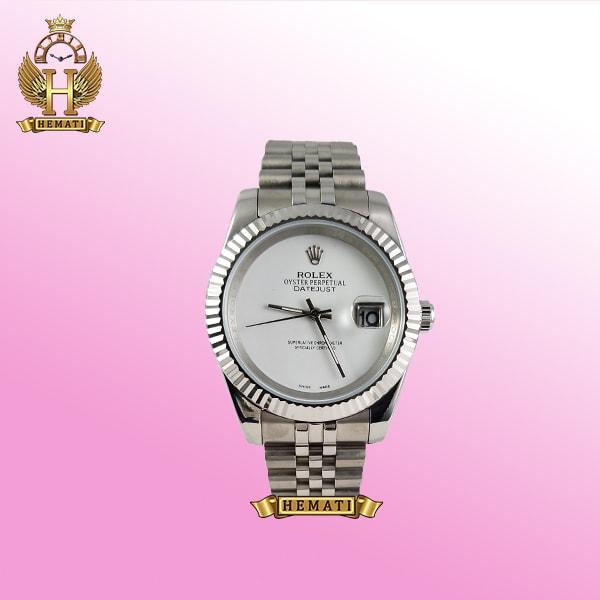ساعت مردانه رولکس دیت جاست Rolex Datejust RODJM602 قاب و بند نقره ای صفحه مهندسی