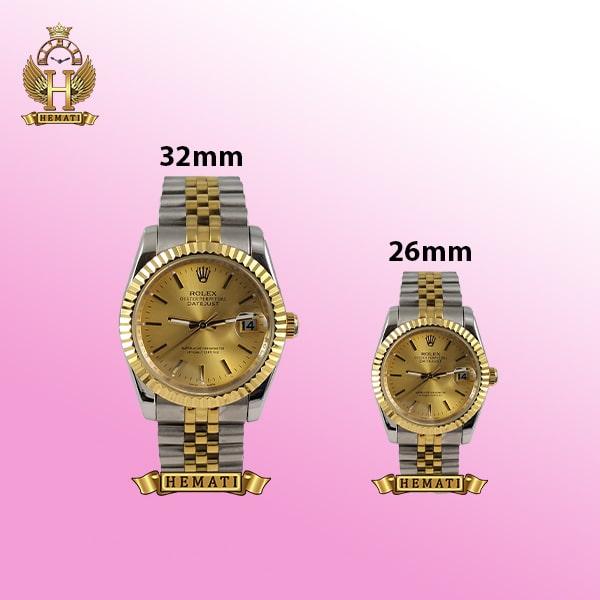 ساعت زنانه رولکس دیت جاست Rolex Datejust RODJL202 نقره ای طلایی (صفحه طلایی)