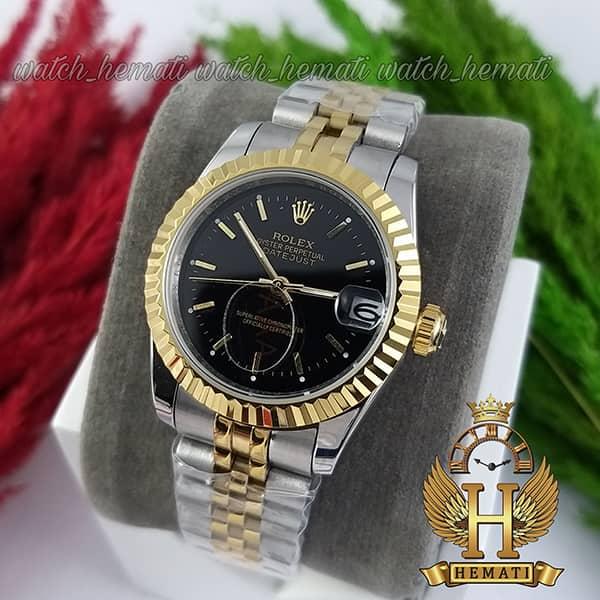 خرید ارزان ساعت زنانه رولکس دیت جاست Rolex Datejust RODJL204 نقره ای طلایی (صفحه طلایی)