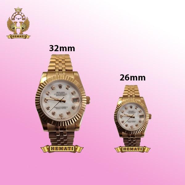 ساعت زنانه رولکس دیت جاست Rolex Datejust RODJL100 رزگلد صفحه سفید صدفی