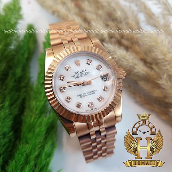 عکس ساعت زنانه رولکس دیت جاست Rolex Datejust RODJL100 رزگلد
