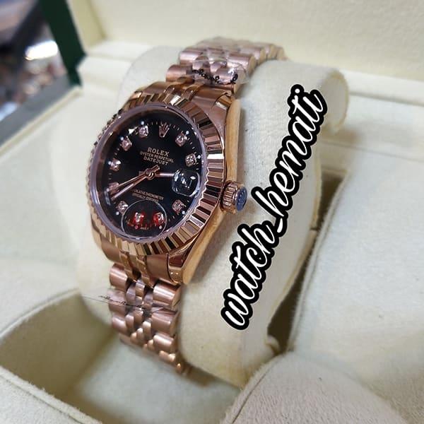 مشخصات ساعت زنانه رولکس دیت جاست Rolex Datejust RODJL32105 رزگلد ، قطر 32 میلیمتر