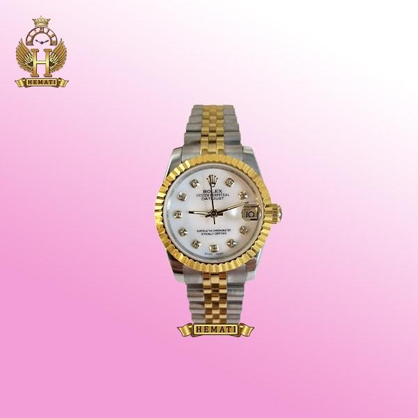 ساعت زنانه رولکس دیت جاست اتوماتیک Rolex Datejust RODJL32104 نقره ای طلایی ، قطر 32 میلیمتر
