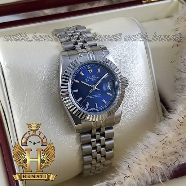 خرید اینترنتی ساعت زنانه رولکس دیت جاست Rolex Datejust RODJL201 نقره ای ،ایندکس خط ، قطر 32 میلیمتر