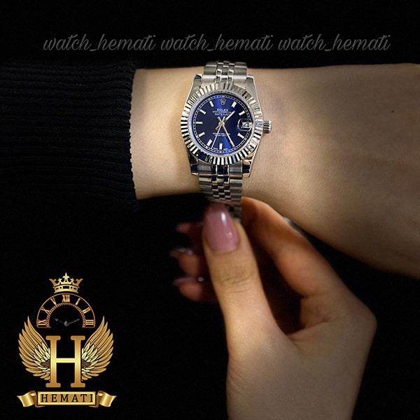 ساعت مچی زنانه رولکس دیت جاست Rolex Datejust RODJL201 نقره ای ،ایندکس خط ، قطر 32 میلیمتر