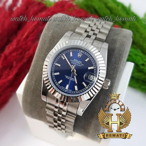 خرید ، قیمت ، مشخصات ساعت زنانه رولکس دیت جاست Rolex Datejust RODJL201 نقره ای ،ایندکس خط ، قطر 32 میلیمتر