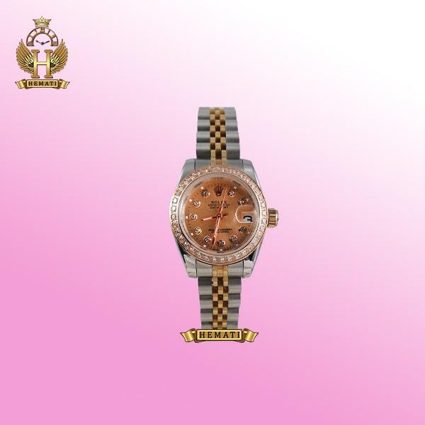 خرید ساعت زنانه رولکس دیت جاست مدل Datejust 491 نقره ای-رزگلد