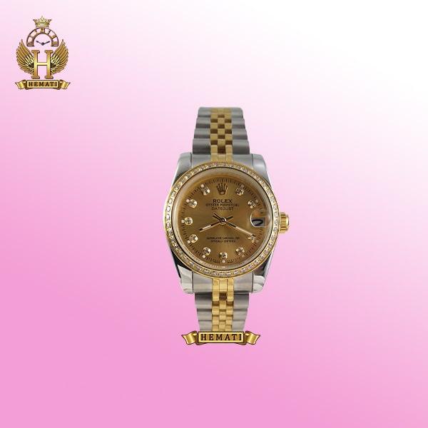 خرید ساعت زنانه رولکس دیت جاست مدل Datejust 666 نقره ای طلایی