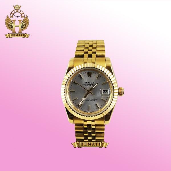 ساعت مردانه رولکس دیت جاست Rolex Datejust RODJM200 طلایی ایندکس خط