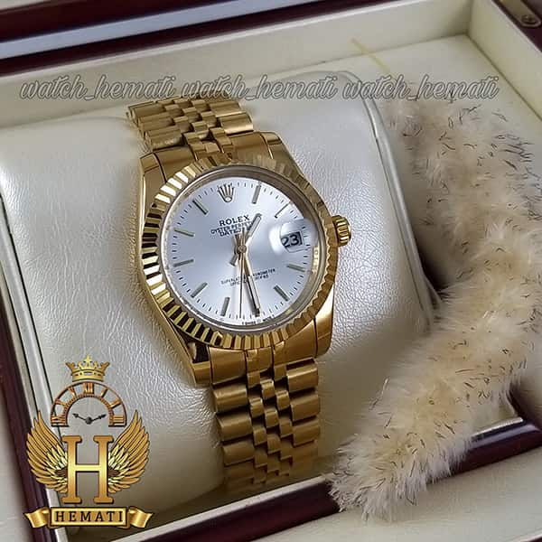 خرید ارزان ساعت مردانه رولکس دیت جاست Rolex Datejust RODJM200 طلایی ایندکس خط