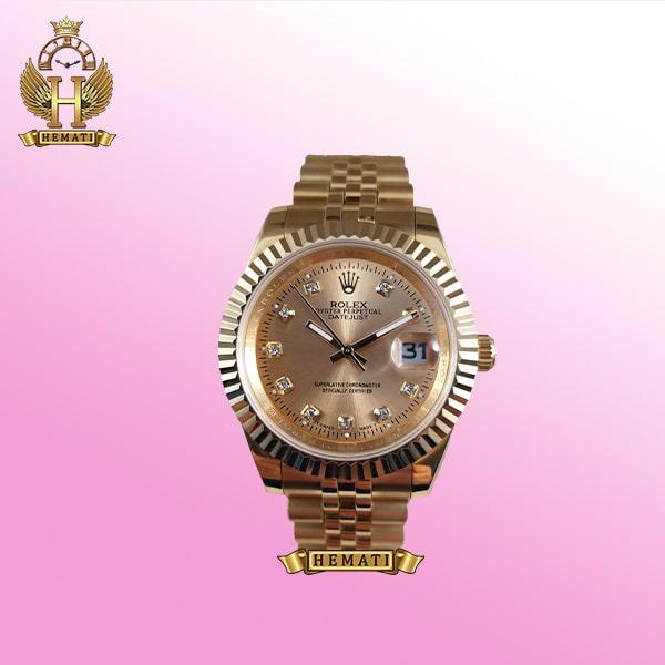 خرید ساعت دیت جاست رولکس مدل 721 طلایی ایندکس نگین دار