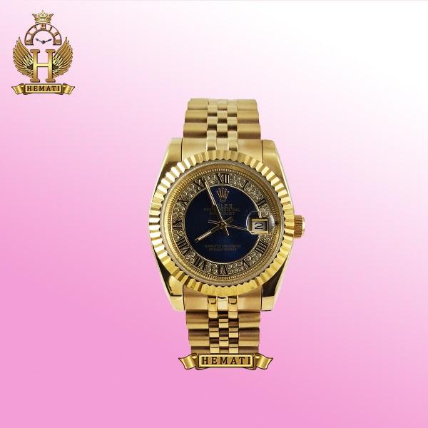 ساعت رولکس دیت جاست مدل Datejust 667 طلایی ایندکس یونانی هایکپی