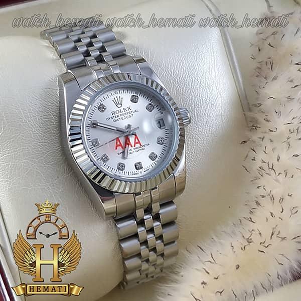 خرید انلاین ساعت زنانه رولکس دیت جاست Rolex Datejust RODJL108 تمام نقره ای