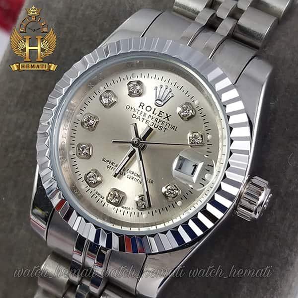 قیمت ساعت زنانه رولکس دیت جاست Rolex Datejust RODJL108 تمام نقره ای