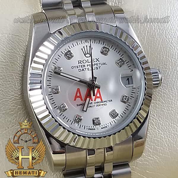 خرید اینترنتی ساعت زنانه رولکس دیت جاست Rolex Datejust RODJL108 تمام نقره ای