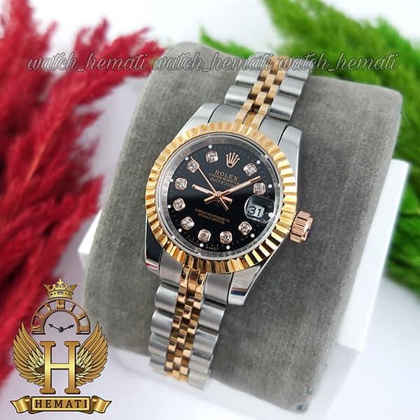 خرید اینترنتی ساعت زنانه رولکس دیت جاست Rolex Datejust RODJL26101 نقره ای رزگلد ، قطر 26 میلیمتر