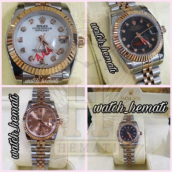 خرید ، قیمت ، مشخصات ساعت زنانه رولکس دیت جاست Rolex Datejust RODJL26101 نقره ای رزگلد ، قطر 26 میلیمتر