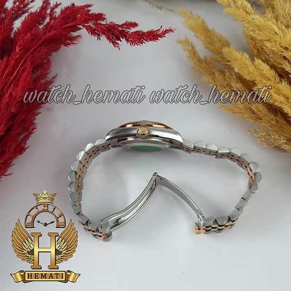 خرید ساعت زنانه رولکس دیت جاست Rolex Datejust RODJL111 نقره ای رزگلد صفحه صدف سفید