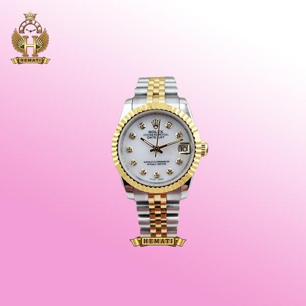 ساعت زنانه رولکس دیت جاست Rolex Datejust RODJL32102 نقره ای طلایی ، قطر 32 میلیمتر