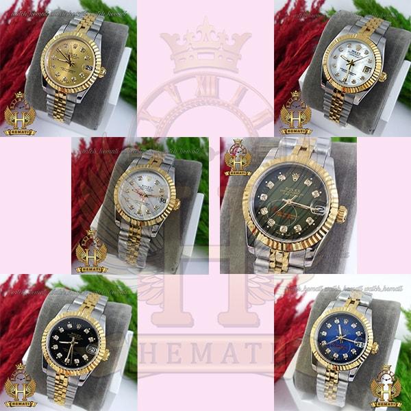 خرید ، قیمت ، مشخصات ساعت زنانه رولکس دیت جاست Rolex Datejust RODJL32102 نقره ای طلایی ، قطر 32 میلیمتر