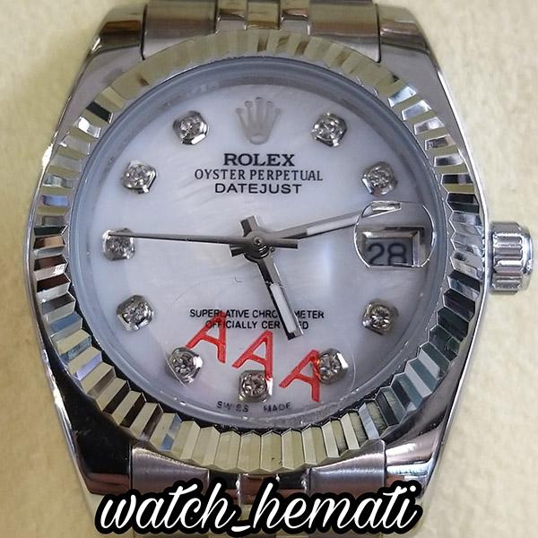 خرید ساعت مچی زنانه رولکس دیت جاست Rolex Datejust RODJL32106 نقره ای ف قطر 32 میلیمتر صفحه سفید صدف