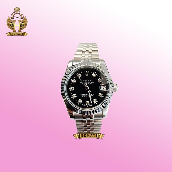 ساعت زنانه رولکس دیت جاست Rolex Datejust RODJL32106 نقره ای ف قطر 32 میلیمتر