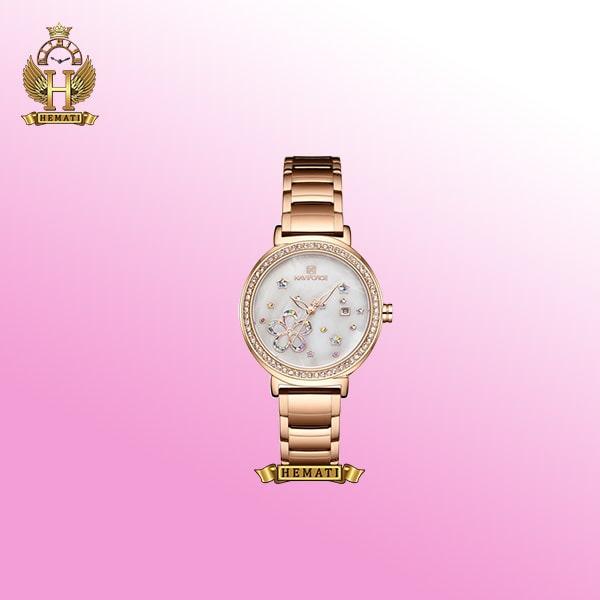 خرید ساعت زنانه نیوی فورس مدل NF5016L رزگلد استیل اورجینال