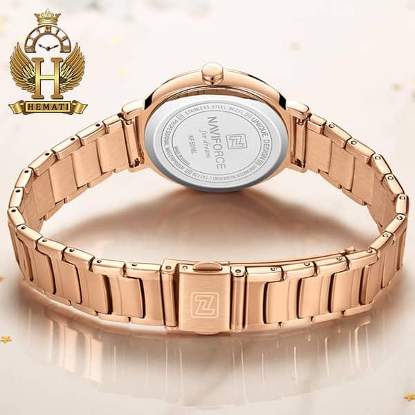 مشخصات ساعت زنانه نیوی فورس مدل naviforce nf5016l قاب و بند رزگلد