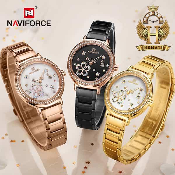 ساعت مچی زنانه نیوی فورس مدل naviforce nf5016l در رنگبندی